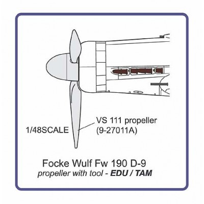 Fw 190 D-9  propeller with tool
