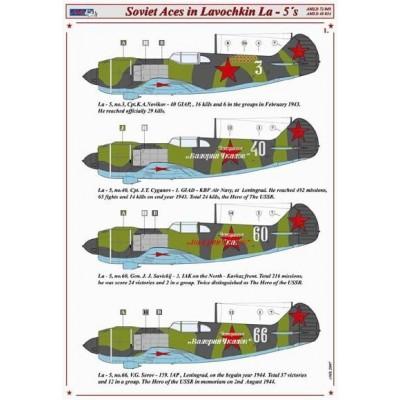 Soviet Aces in Lavochkin La-5's