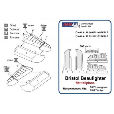 B.Beaufighter - flat tailplane