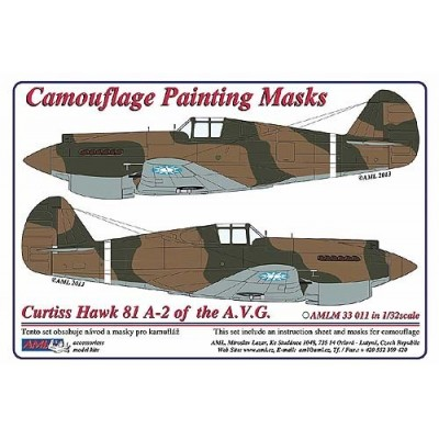 Curtiss Hawk 81-A2 of  China  AF WWII - Camouflage Painting  Masks