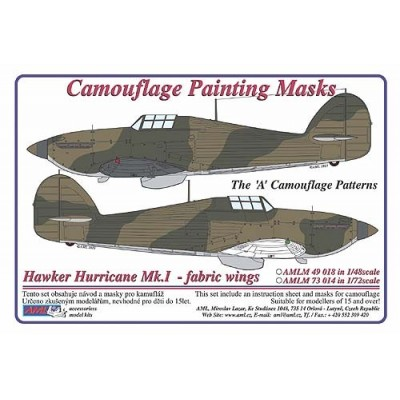 Hawker Hurricane Mk.I fabric wings - Camouflage Painting  Masks