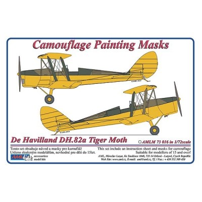De Havilland DH.82a - Camouflage Painting  Masks