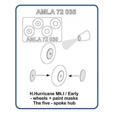 H.Hurricane Mk.I / Early -  wheels  + paint masks