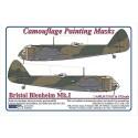 Bristol Blenheim Mk.I - Camouflage Painting  Masks