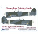 Hawker Typhoon / EARLY - Camouflage Painting  Masks
