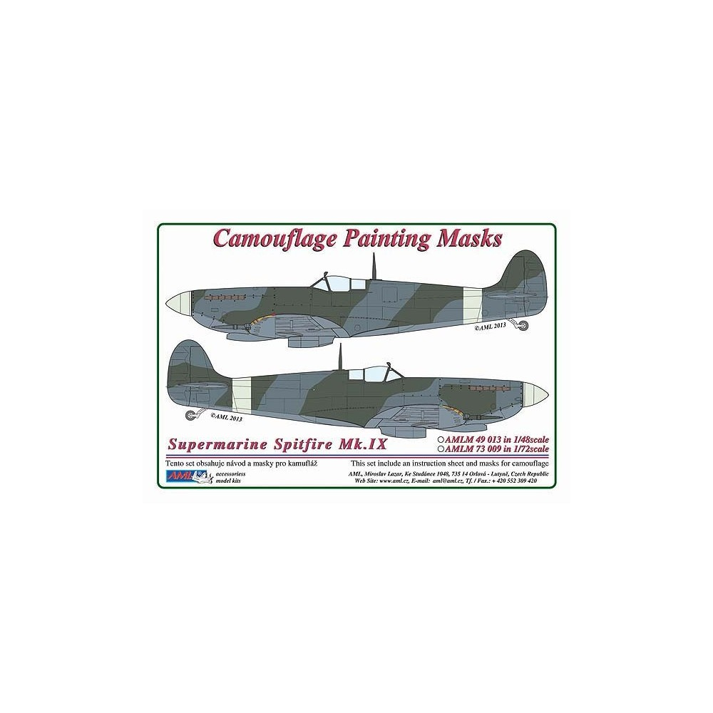 S.Spitfire Mk.IX - Camouflage Painting  Masks