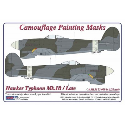 Hawker Typhoon / LATE - Camouflage Painting  Masks