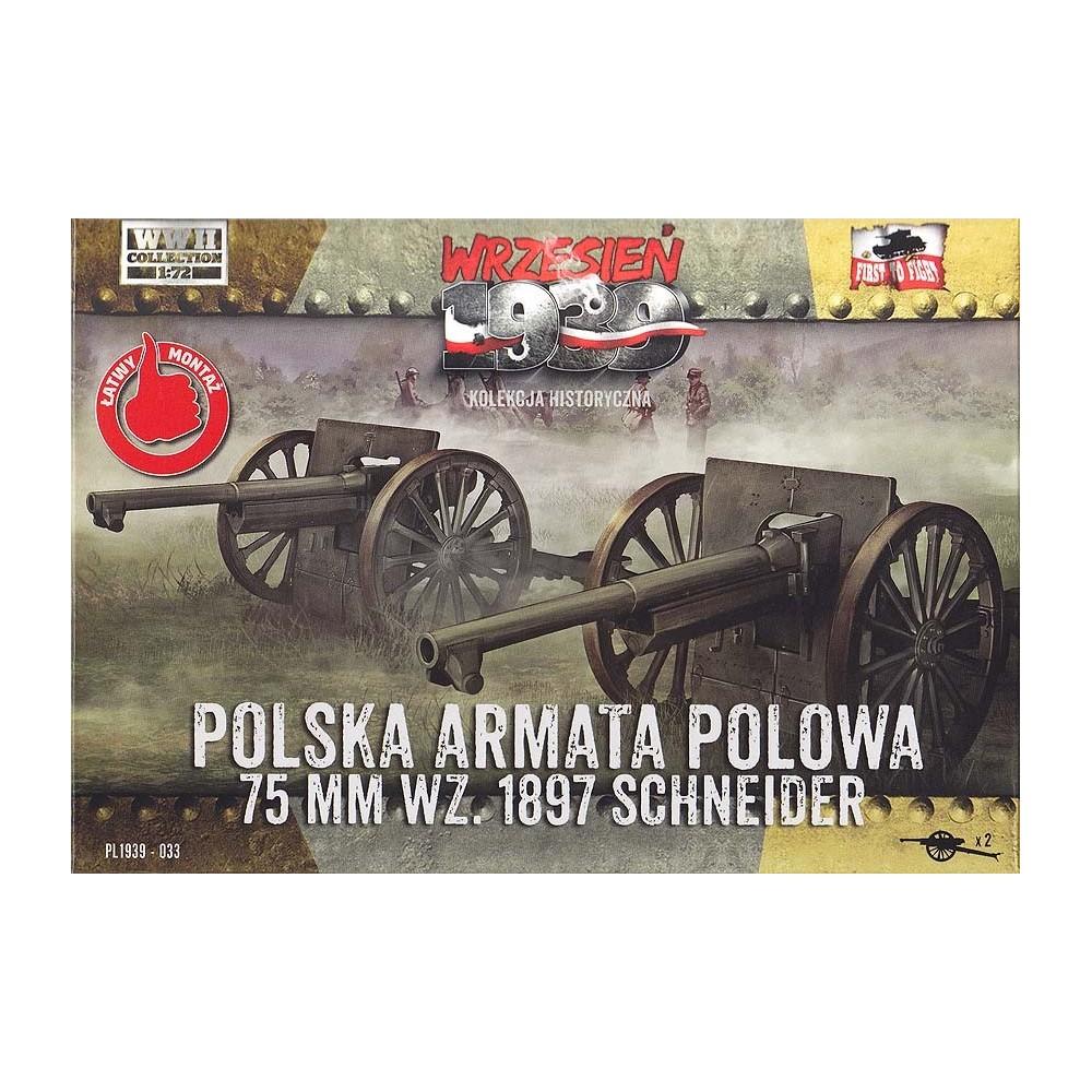 Polska armata polowa 75 mm wz.1897 Schneider