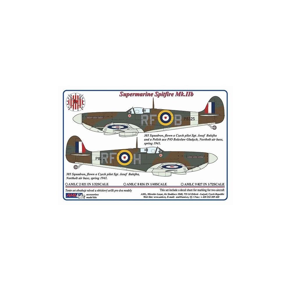 Spitfiry Mk. IIb Sgt.Josefa Balejky, 1:72