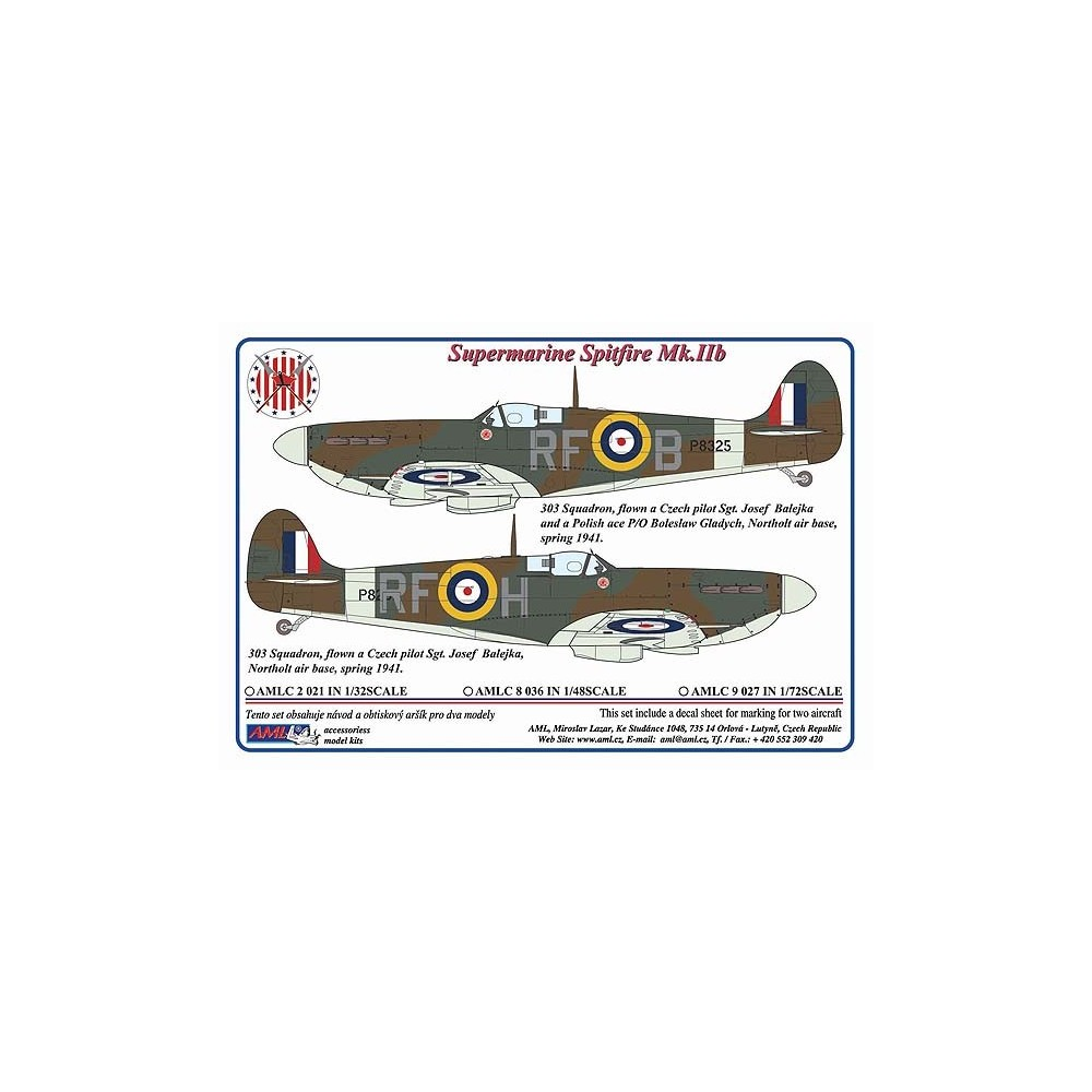 Spitfiry Mk. IIb Sgt.Josefa Balejky, 1:48