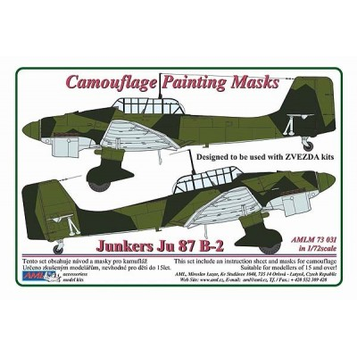Junkers Ju 87B-2  1:72   Camouflage Painting  Masks