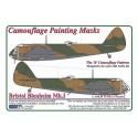 "Bristol Blenheim Mk.I  1:72  ""B"" Camouflage Painting  Masks"
