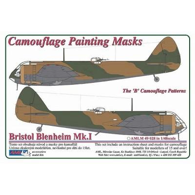 "Bristol Blenheim Mk.I  1:48  ""B"" Camouflage Painting  Masks"