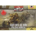 Bofors 40mm Polish Anti-aircraft cannon 1:72
