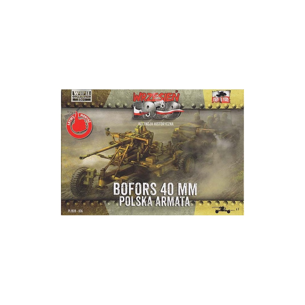 Bofors 40mm Polish Anti-aircraft cannon 1:72