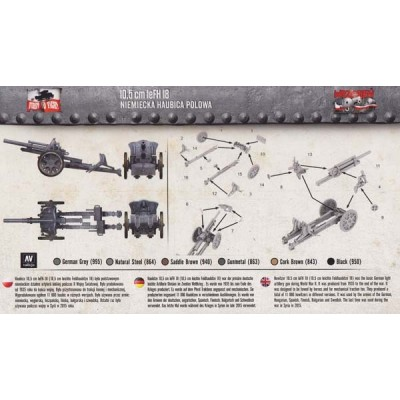 10,5cm leFH 18 German Field Howitzer  1:72