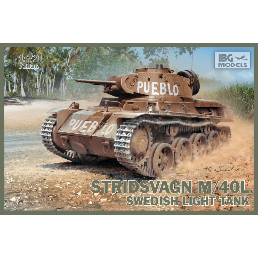 Stridsvagn m/40 L Swedish light tank 1:72
