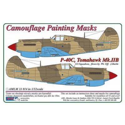 1/32 Curtiss P -40C, Tomahawk Mk.IIB - Camouflage Painting  Masks