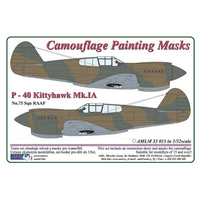 1/32 Curtiss P -40 Kittyhawk Mk.IA - Camouflage Painting  Masks