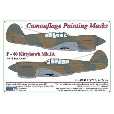 1/32 Curtiss P -40 Kittyhawk Mk.IA - Camouflage Painting  Masks