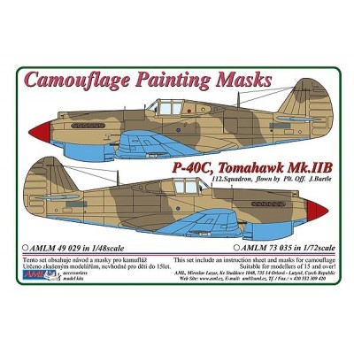 1/48 Curtiss P -40C, Tomahawk Mk.IIB - Camouflage Painting  Masks