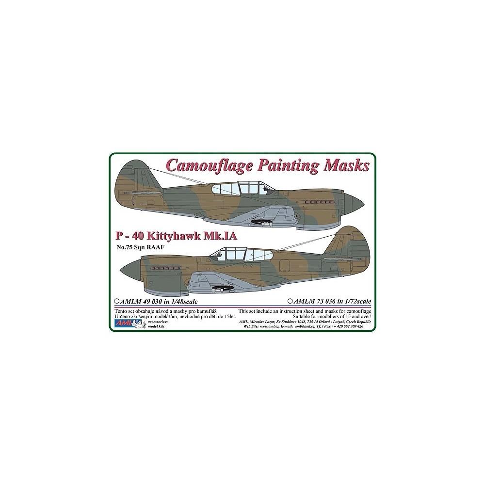 1/48 Curtiss P -40 Kittyhawk Mk.IA - Camouflage Painting  Masks