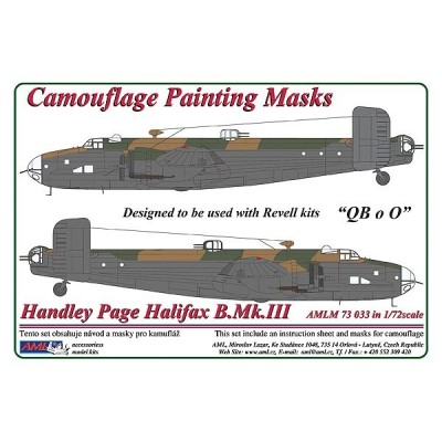 1/72 Handley Page Halifax Mk.III - Camouflage Painting  Masks