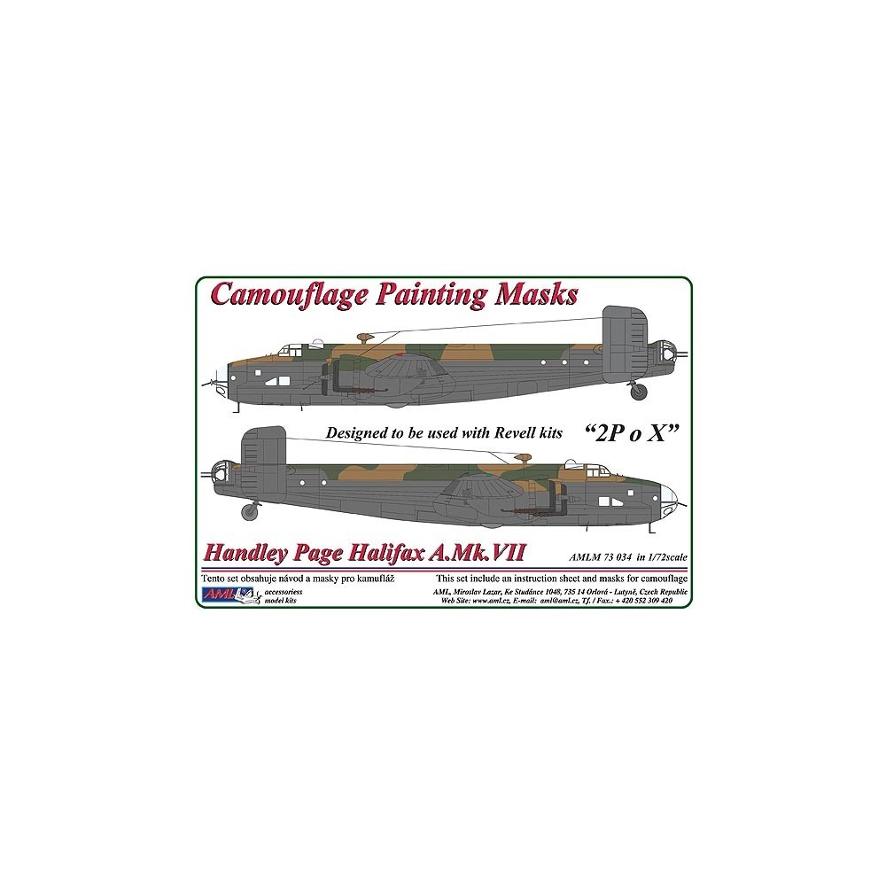 1/72 Handley Page Halifax A.Mk.VII - Camouflage Painting  Masks