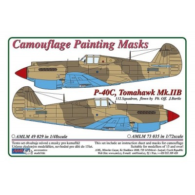 1/72 Curtiss P -40C, Tomahawk Mk.IIB - Camouflage Painting  Masks