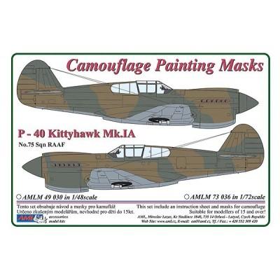 1/72 Curtiss P -40 Kittyhawk Mk.IA - Camouflage Painting  Masks