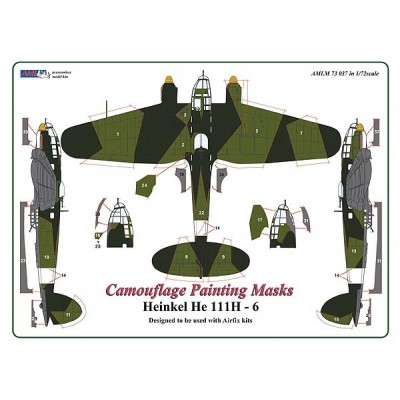1/72 Heinkel He 111H - 6  - Camouflage Painting  Masks