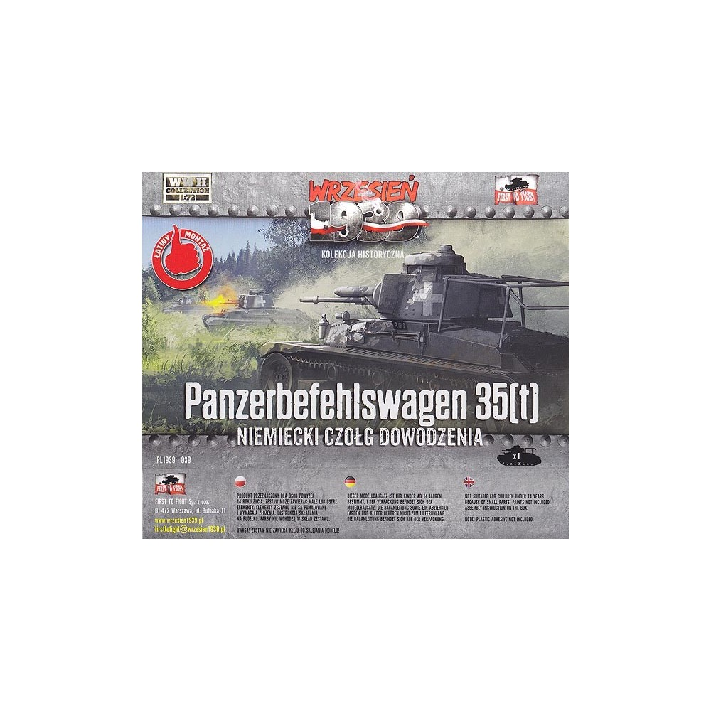 1/72 German Panzerbefehlswagen 35(t) Light tank
