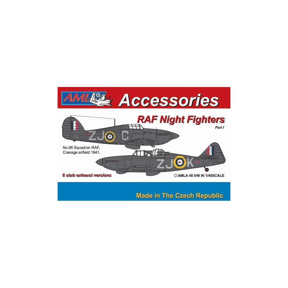 1/48 Hurricane Mk.I & Defiant Mk.I – 6 stub exhaust versions / Part I