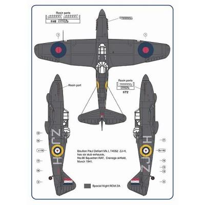 1/72 Hurricane Mk.I & Defiant Mk.I – 6 stub exhaust versions / Part II