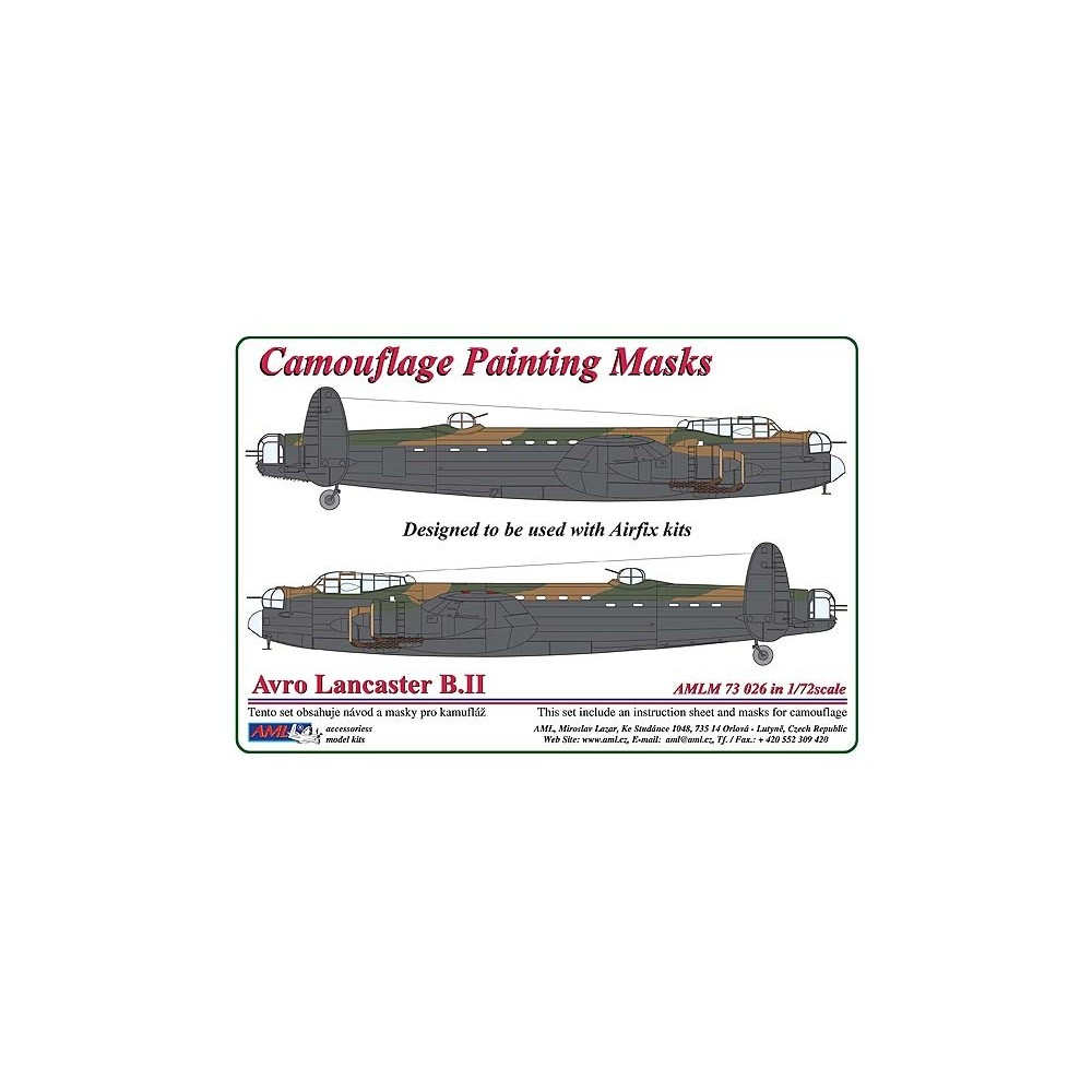 Avro Lancaster B.III - Camouflage Painting  Masks