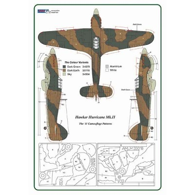 1/32 Hawker Hurricane Mk.II - Camouflage Painting Masks