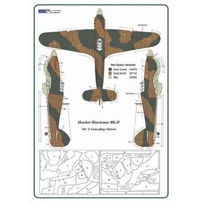 1/48 Hawker Hurricane Mk.II - Camouflage Painting Masks