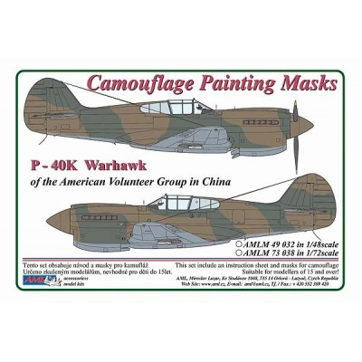 1/48 Curtiss P -40 K Warhawk - Camouflage Painting  Masks