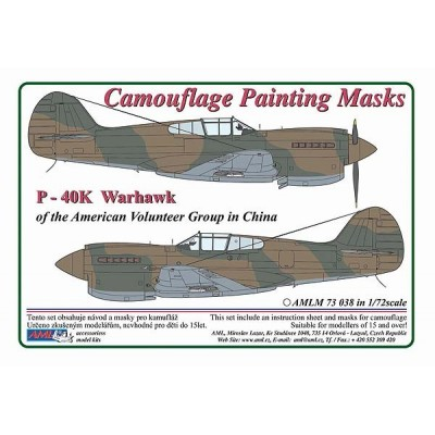 1/72 Curtiss P -40 K Warhawk - Camouflage Painting  Masks