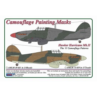 1/72 Hawker Hurricane Mk.II - Camouflage Painting Masks