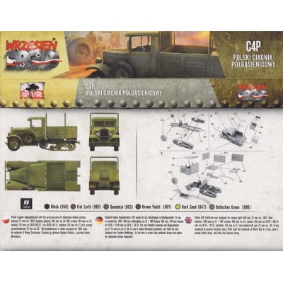 1/72 Polish C4P military half-track