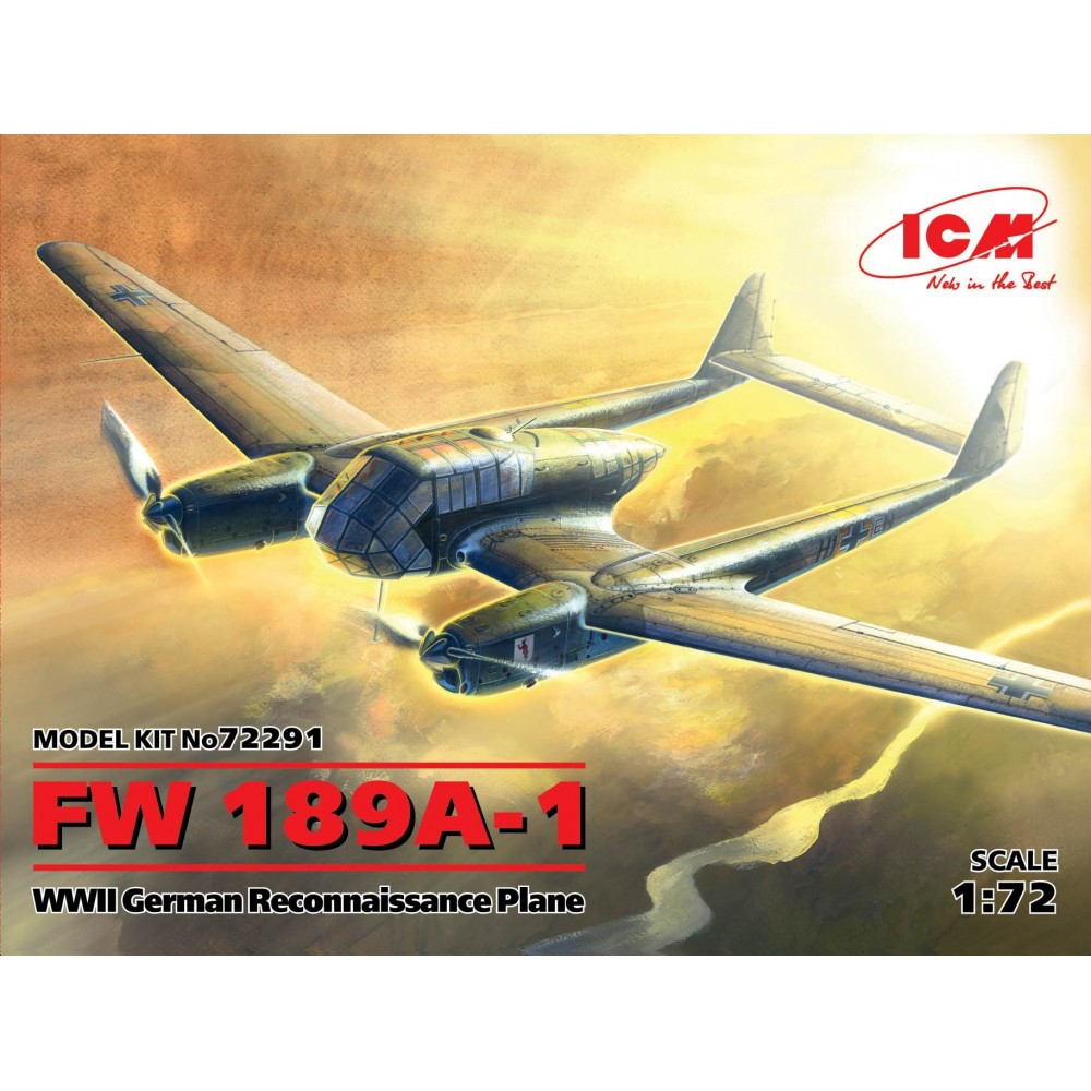 1/72 FW 189A-1, WWII German Reconnaissance Plane