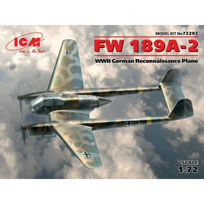 1/72 FW 189A-2, WWII German Reconnaissance Plane