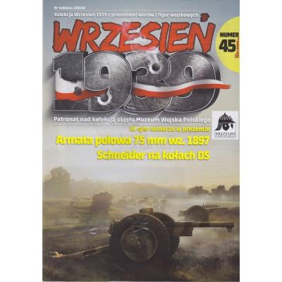 1/72 Schneider 75mm Polish Field Cannon on DS wheels