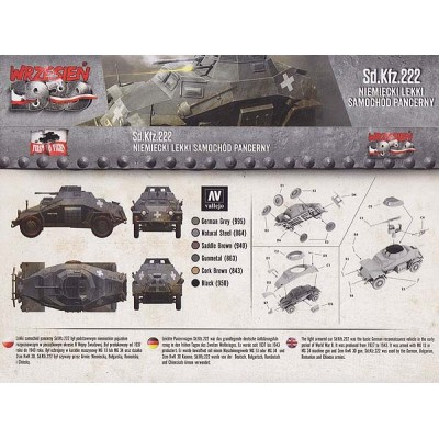 1/72 Sd.Kfz.222 German Light Armored car
