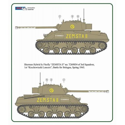 1/48 Polish Sherman Firefly Ic Hybrid conversion set