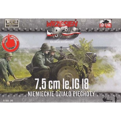 7,5cm Ie.IG 18 Gun German Infantry