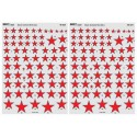Soviet Stars in the Sky - Black outlined red stars