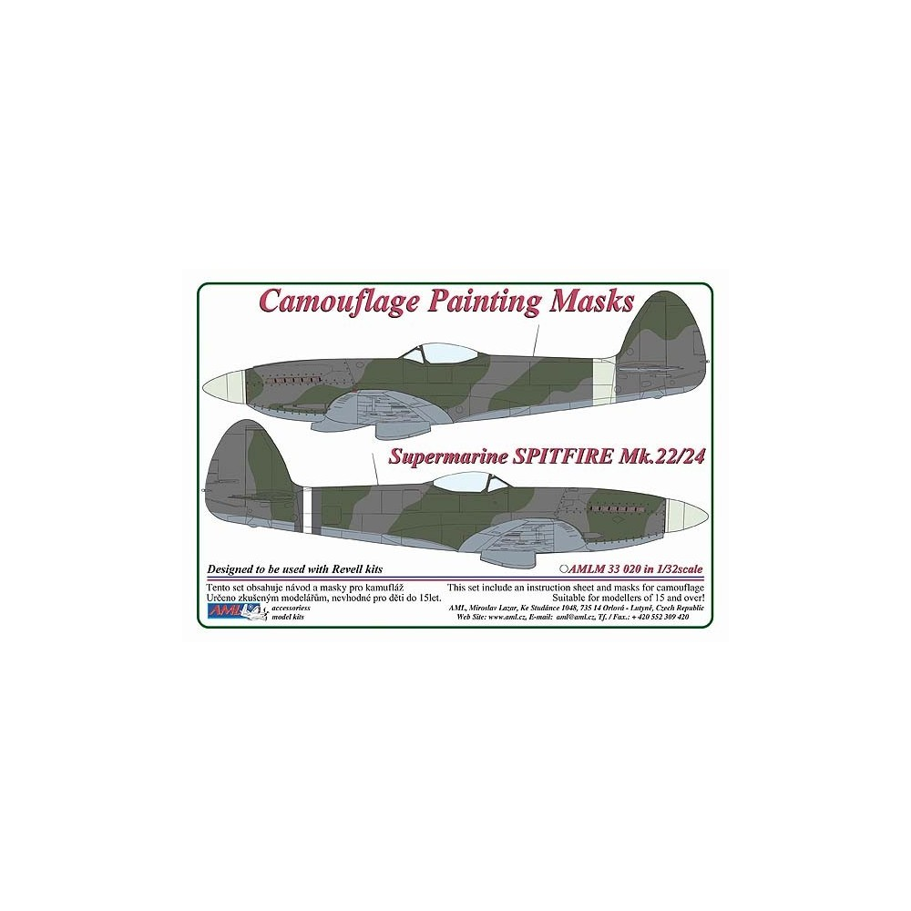 1/32 S.Spitfire Mk.22/24 - Camouflage Painting Masks  sc 1 st  AML & Veteransenglishfighterplanesupermarinespitfire
