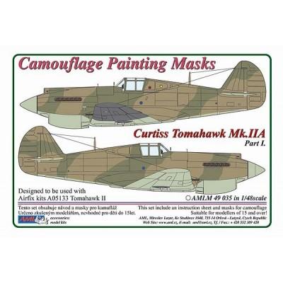 1/48 Curtiss Tomahawk Mk.IIB / Part I  - Camouflage Painting  Masks